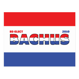 Vote Bachus 2010 Elections Red White and Blue Postcard