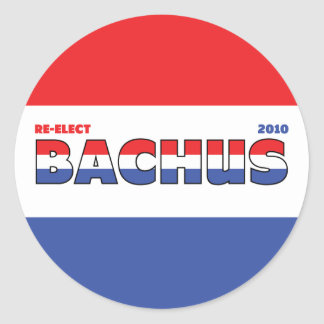Vote Bachus 2010 Elections Red White and Blue Classic Round Sticker