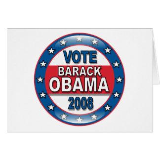 Vote Barack Obama 2008 Card