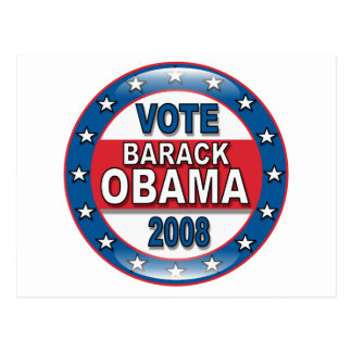 Vote Barack Obama 2008 Postcard