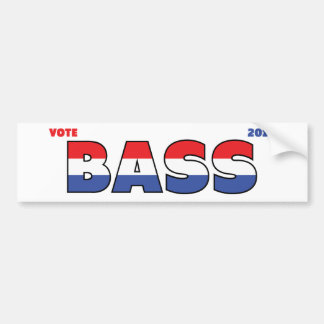 Vote Bass 2010 Elections Red White and Blue Car Bumper Sticker