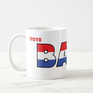 Vote Bass 2010 Elections Red White and Blue Classic White Coffee Mug