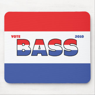 Vote Bass 2010 Elections Red White and Blue Mouse Pad