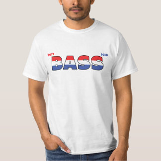 Vote Bass 2010 Elections Red White and Blue T Shirts