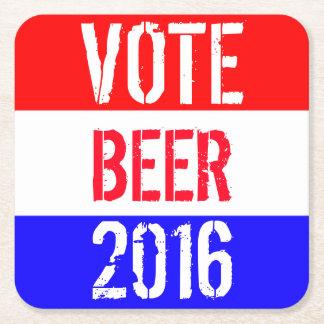 Vote Beer 2016 Square Paper Coaster