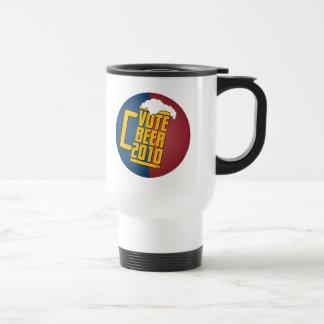 Vote Beer! 15 Oz Stainless Steel Travel Mug