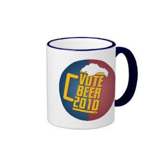 Vote Beer! Ringer Coffee Mug