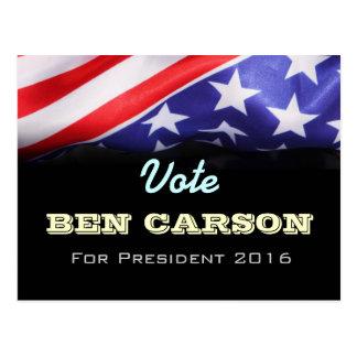 Vote Ben CARSON 2016 Custom Postcards