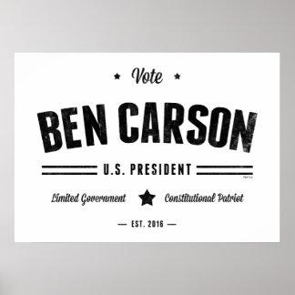 Vote Ben Carson 2016 Poster