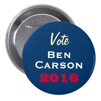 Vote Ben Carson 2016 Round Campaign Button