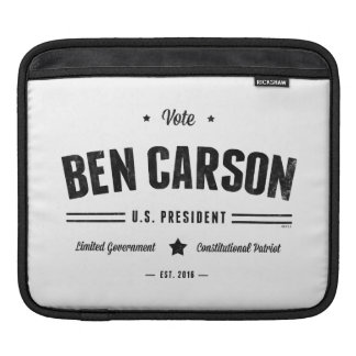Vote Ben Carson 2016 Sleeve For iPads