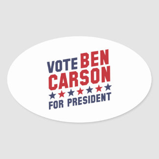 Vote Ben Carson Oval Sticker