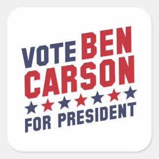 Vote Ben Carson Square Sticker