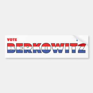 Vote Berkowitz 2010 Elections Red White and Blue Bumper Sticker