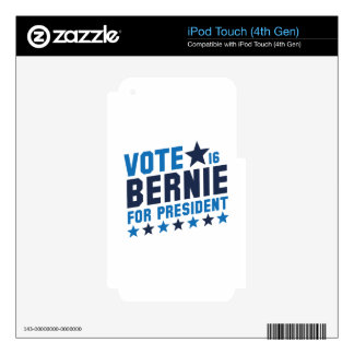 Vote Bernie 2016 Decals For iPod Touch 4G