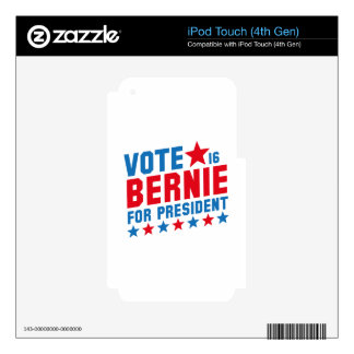 Vote Bernie 2016 iPod Touch 4G Decals