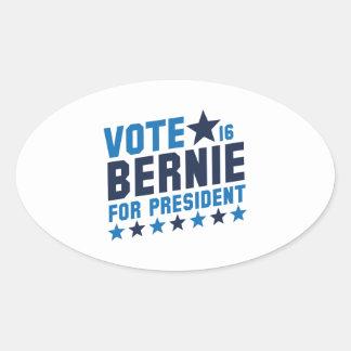 Vote Bernie 2016 Oval Sticker