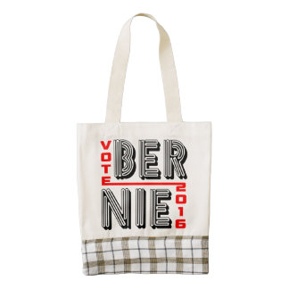 Vote Bernie Sanders 2016 Zazzle HEART Tote Bag