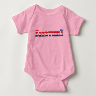 Vote Berryhill 2010 Elections Red White and Blue Baby Bodysuit