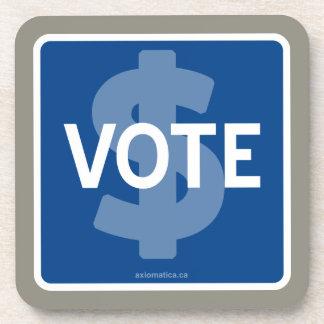 $ VOTE BEVERAGE COASTER