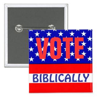 Vote Biblically Pinback Button