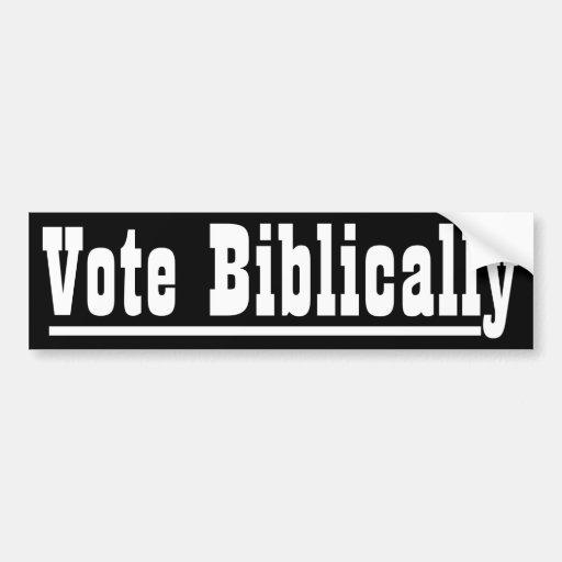 Vote Biblically Car Bumper Sticker