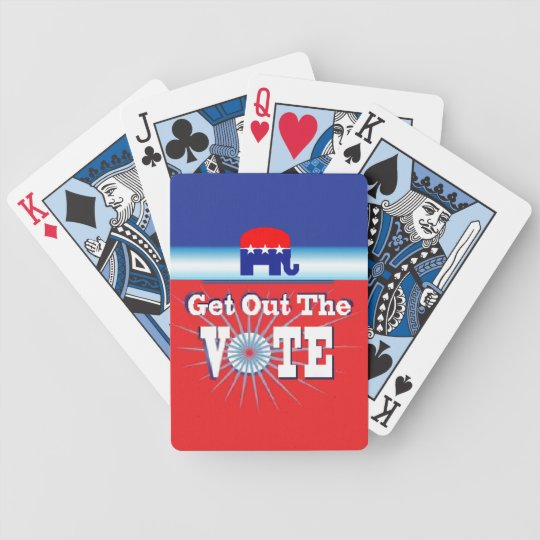 VOTE BICYCLE PLAYING CARDS