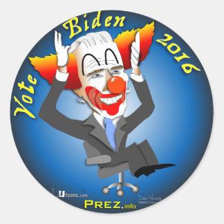 Vote Biden 2016 Classic Round Sticker