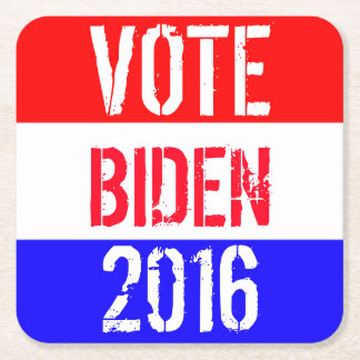 Vote Biden 2016 Square Paper Coaster