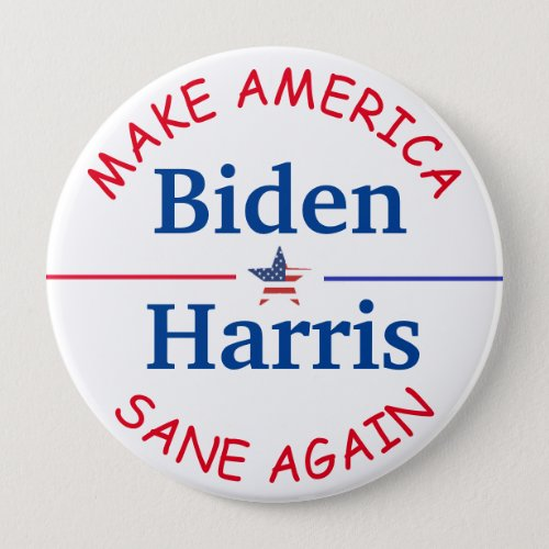 Vote Biden and Harris American Flag 2020 Election Button