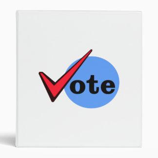 Vote 3 Ring Binders