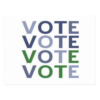 Vote Blue and Green Postcard