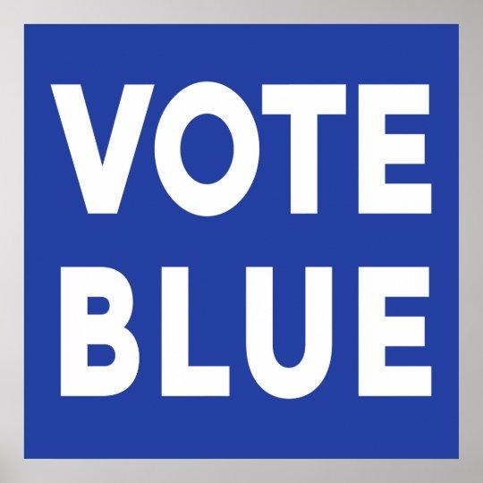 vote blue bold text election sign zazzle com