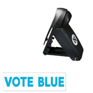 Vote Blue bold text Pocket Stamp