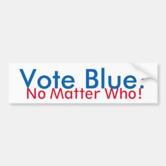 Vote Blue: No Matter Who bumper sticker