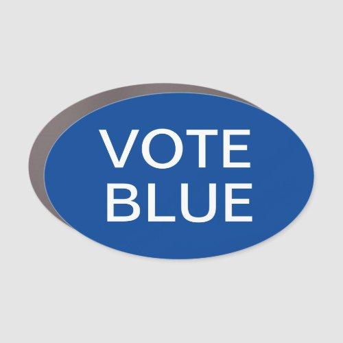 Vote Blue Oval Car Magnet