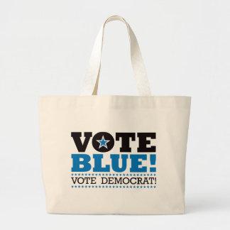 Vote Blue! Vote Democrat! Large Tote Bag