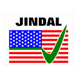 Vote  Bobby Jindal for President 2016 Postcard