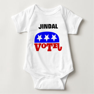 Vote Bobby Jindal Republican Elephant Baby Bodysuit
