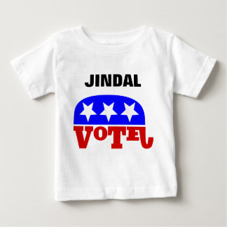 Vote Bobby Jindal Republican Elephant Baby T-Shirt