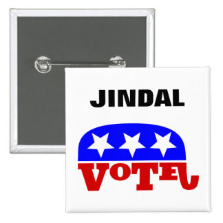 Vote Bobby Jindal Republican Elephant Button