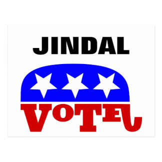 Vote Bobby Jindal Republican Elephant Postcard