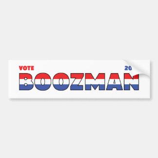 Vote Boozman 2010 Elections Red White and Blue Car Bumper Sticker