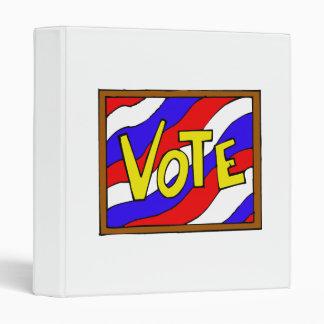 Vote Box Vinyl Binders