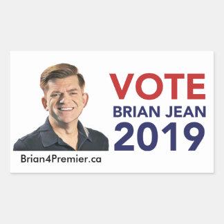 Vote Brian Jean Stickers