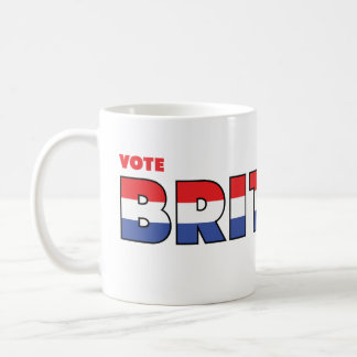 Vote Britton 2010 Elections Red White and Blue Coffee Mug