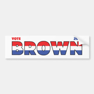 Vote Brown 2010 Elections Red White and Blue Bumper Sticker