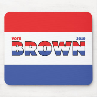 Vote Brown 2010 Elections Red White and Blue Mouse Pad