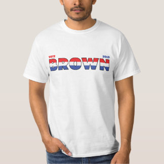 Vote Brown 2010 Elections Red White and Blue T-Shirt