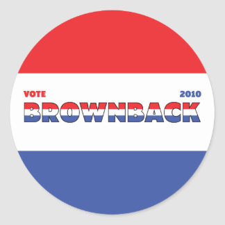 Vote Brownback 2010 Elections Red White and Blue Stickers